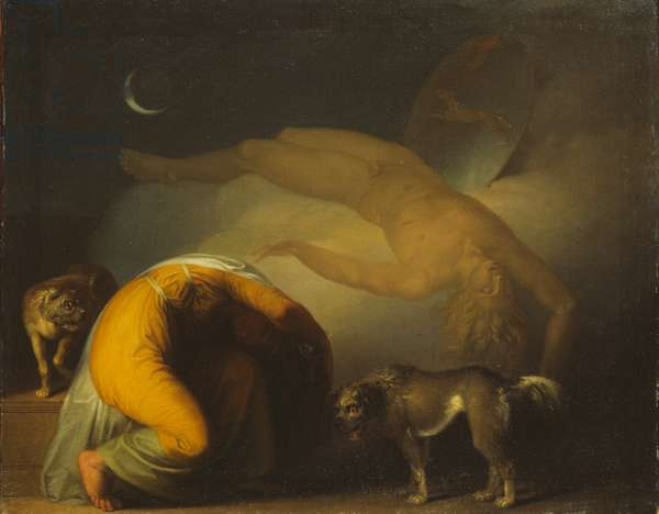 The Spirit of Culmin Appears to his Mother, from the Songs of Ossian (oil on canvas)