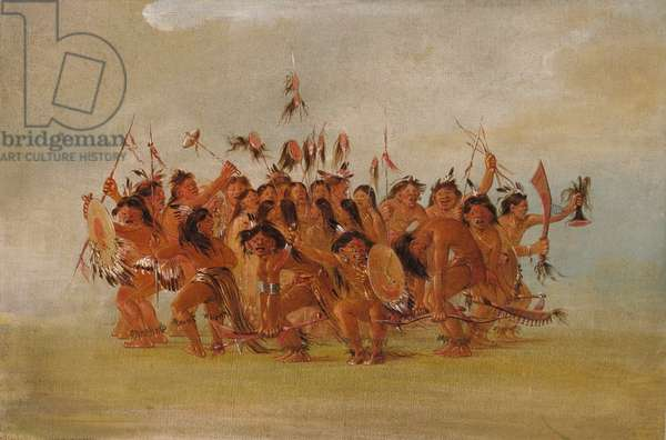 Scalp Dance, Mouth of the Teton River, 1835-37 (oil on canvas)