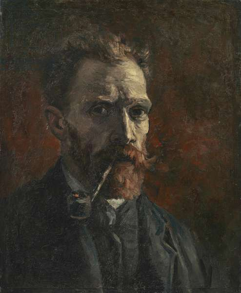 Self-portrait with pipe, 1886 (oil on canvas)