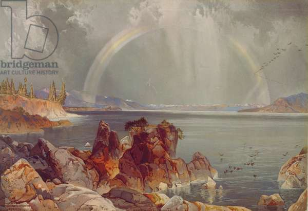 Yellowstone Lake, c.1875 (chromolithograph)