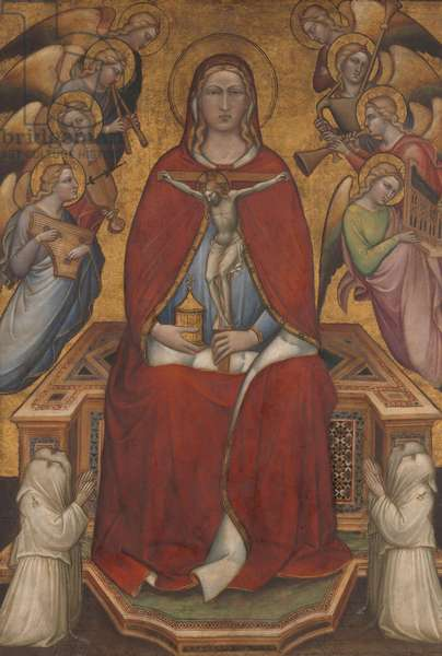 Saint Mary Magdalen Holding a Crucifix, c.1395-1400 (tempera on canvas, gold ground)