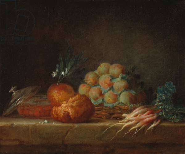 Still Life with Brioche, Fruit and Vegetables, 1775 (oil on canvas)