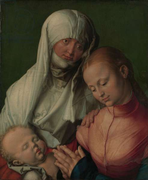 Virgin and Child with Saint Anne, c.1519 (oil on linden)