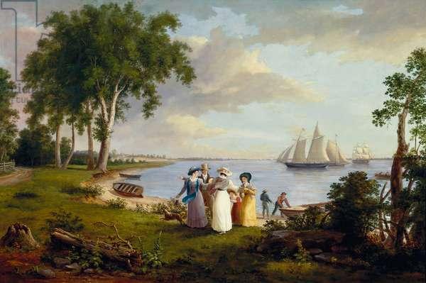 View of the Delaware near Philadelphia, 1831 (oil on canvas)