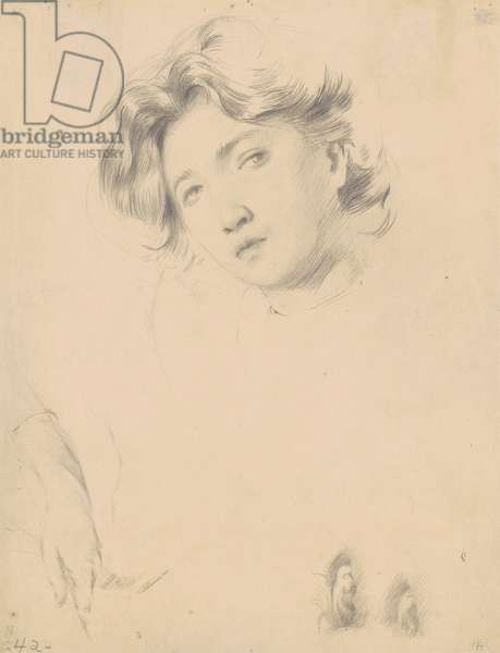 Study for the Head of a Girl, c.1900 (graphite on wove paper)