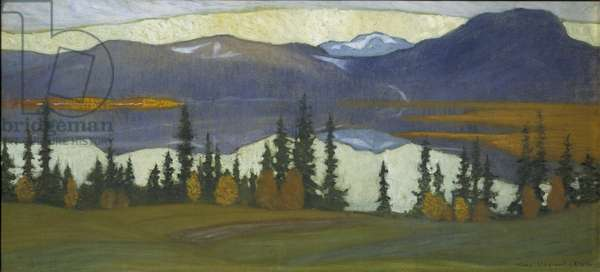 View from Klocka, c.1910 (watercolour with gouache)