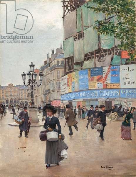 Paris, rue du Havre, c.1882 (oil on canvas)
