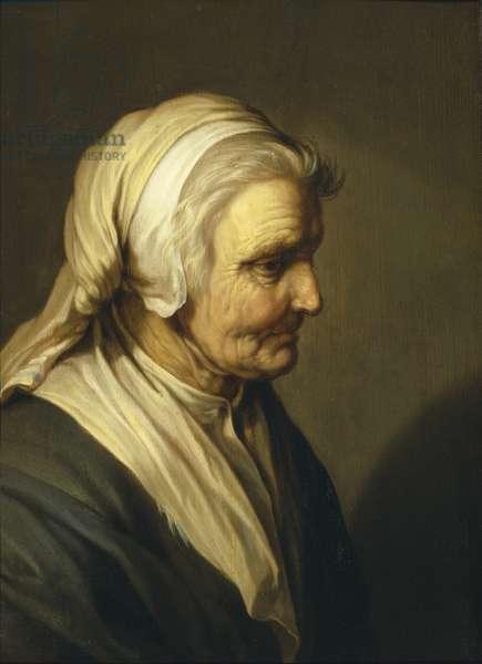 Old Woman, 1635 (oil on oak)