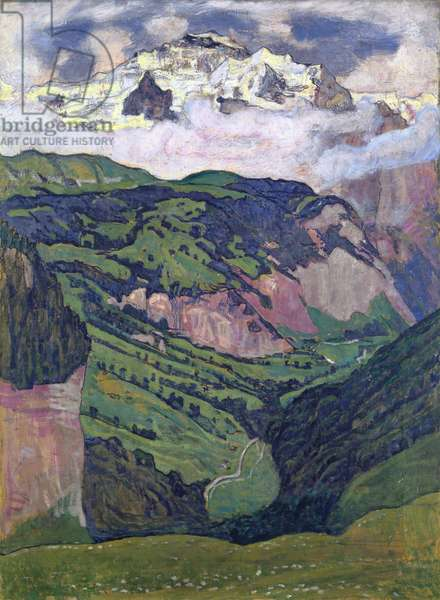 The Jungfrau seen from Isenfluh, 1902 (oil on canvas)