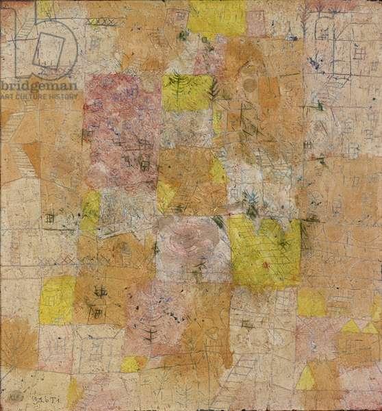 Suburban Idyll, 1926, 191 (T1) (oil on plaster)