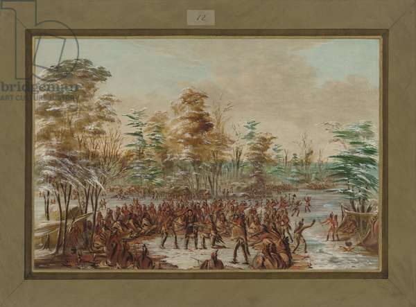 De Tonty Suing for Peace in the Iroquois Village in January 1680, 1847-48 (oil on canvas)