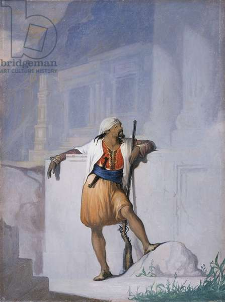The Sentry, c.1872 (oil on board)