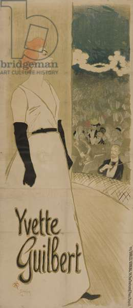 Yvette Guilbert, 1894 (colour lithograph)