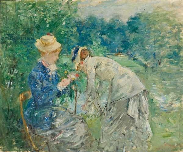 In the Bois de Boulogne, c.1875-9 (oil on canvas)