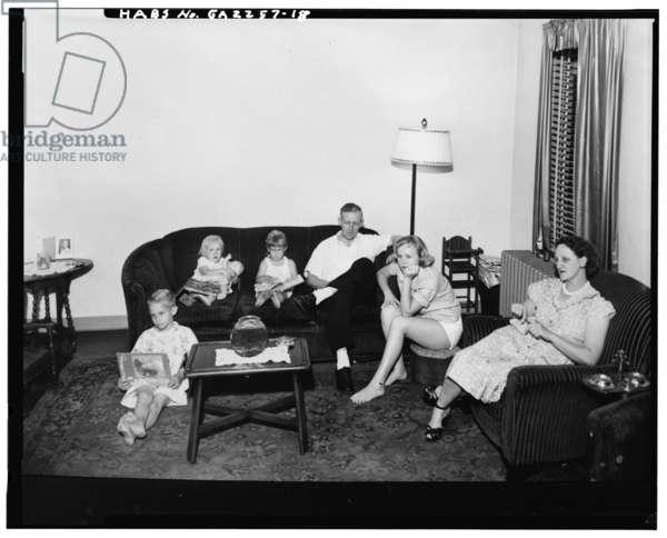 Techwood Homes (Public Housing), Bounded by North Avenue, Parker Street, William Street & Lovejoy Street, Atlanta, Fulton County, GA, c.1940 (b/w photo)