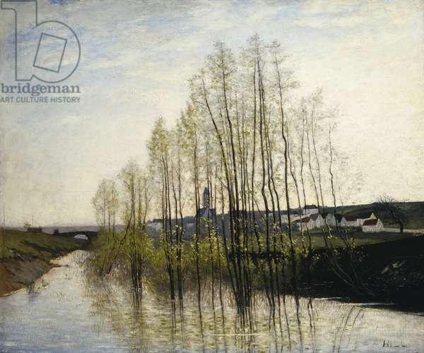 River Landscape, Champagne, 1876 (oil on canvas)
