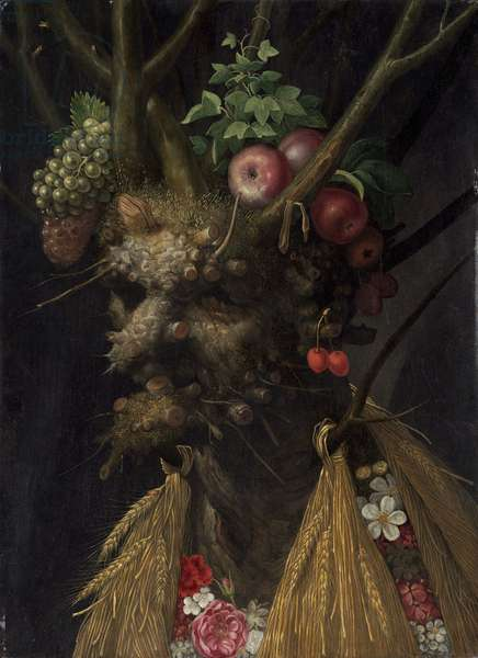 Four Seasons in the One Head, c.1590 (oil on panel)