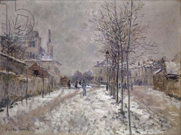 The Snow-Covered Boulevard de Pontoise in Argenteuil, 1875 (oil on canvas)