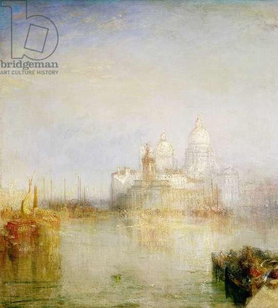 The Dogana and Santa Maria della Salute, Venice, detail, 1843 (oil on canvas) (detail)