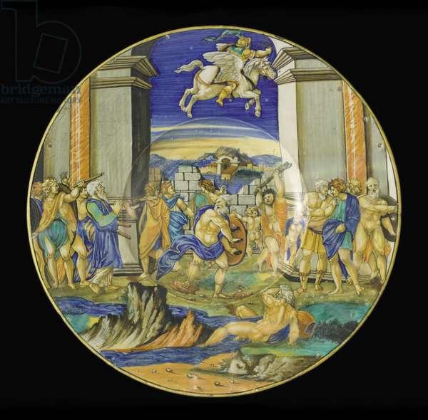 Plate with Scene from Ariosto's 'Orlando Furioso', 1531 (maiolica)