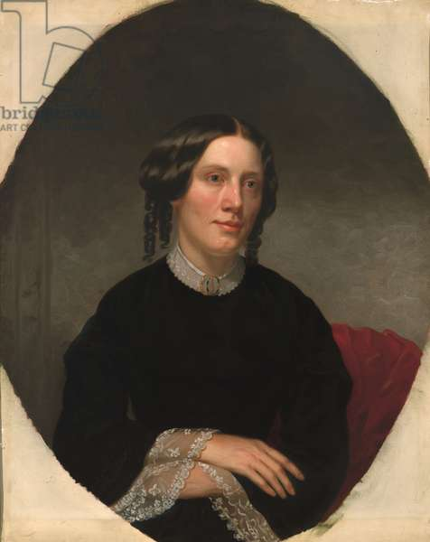 Harriet Elizabeth Beecher Stowe  (1811- 1896), 1853 (oil on canvas)