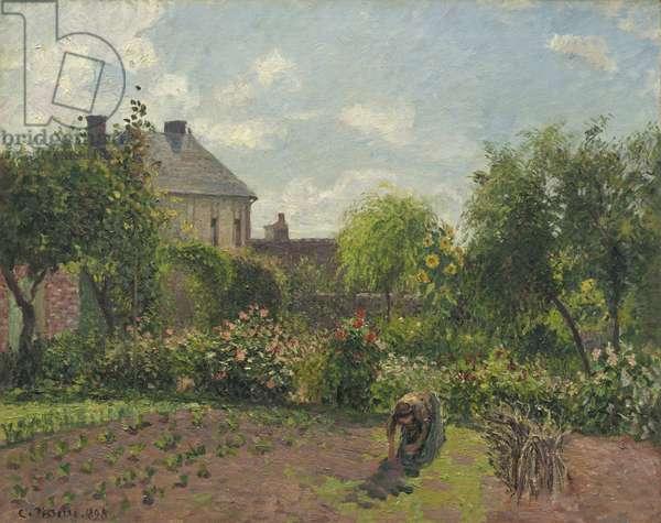 The Artist's Garden at Eragny, 1898 (oil on canvas)