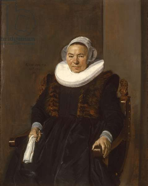Portrait of an Elderly Woman, traditionally called Mevrouw Bodolphe, 1643 (oil on canvas)