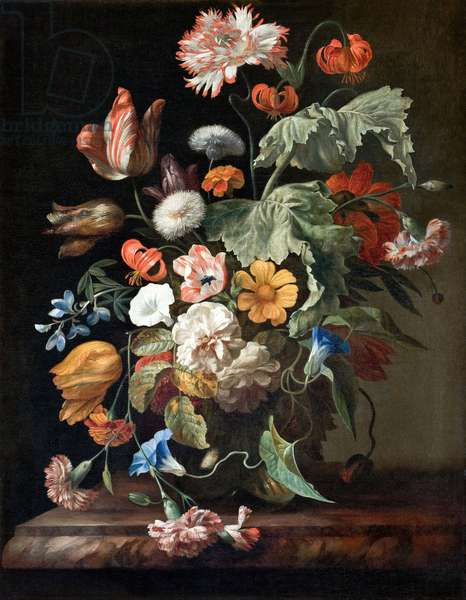 Still-Life with Flowers, c.1700 (oil on canvas)