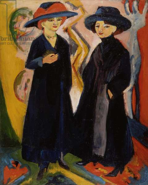 Two Women, c.1910s (oil on canvas)