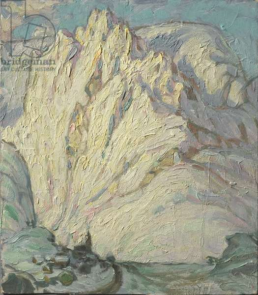 Snowy Mountains. Study from Lofoten, 1930 (oil on cardboard)