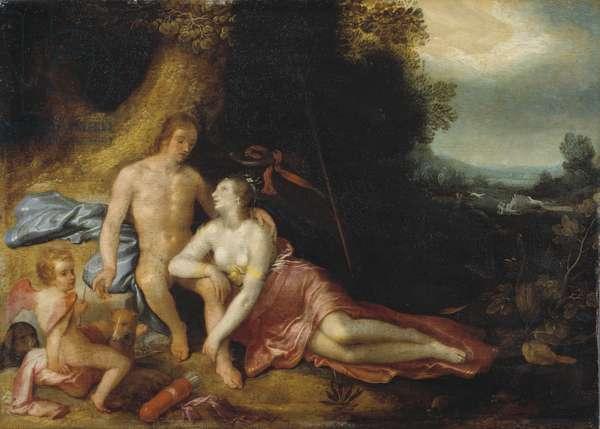 Venus and Adonis, 1603 (oil on panel)