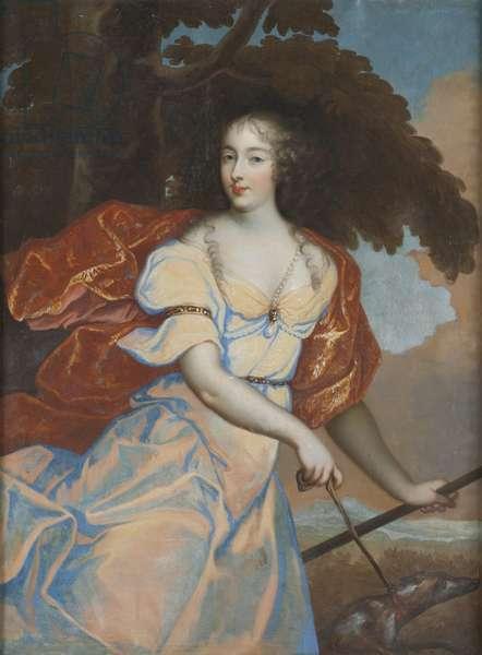 Louise de la Vallière as Diana (oil on canvas)