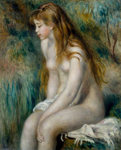 Young Girl Bathing, 1892 (oil on canvas)