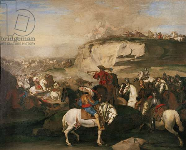 Battle Scene, c.1630-39 (oil on canvas)