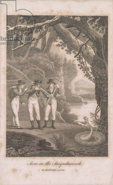 Alexander Wilson and companions on the Susquehanna, 1809 (etching)
