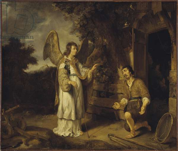 The Angel and Gideon, 1640 (oil on canvas)