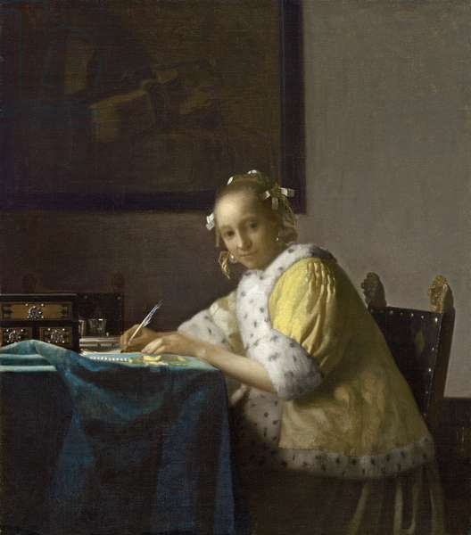 A Lady Writing, c. 1665 (oil on canvas)