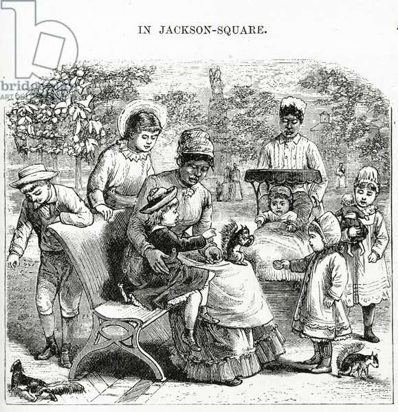 In Jackson Square, New Orleans, illustration from 'America Revisited...' (engraving)