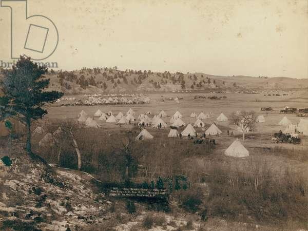 General Brook's Camp near Pine Ridge, 1891