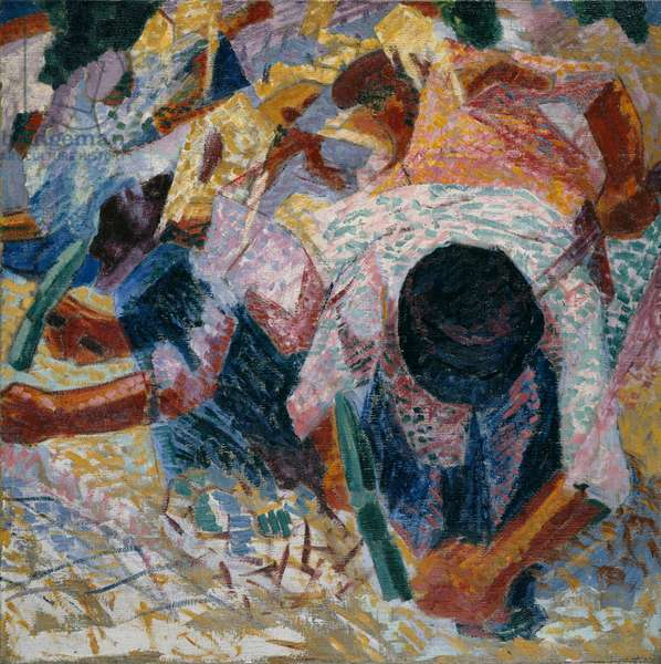 The Street Pavers, 1914 (oil on canvas)