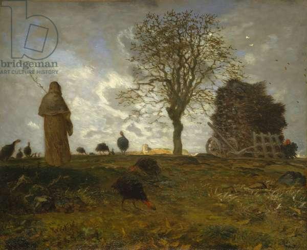 Autumn Landscape with a Flock of Turkeys, 1872-73 (oil on canvas)