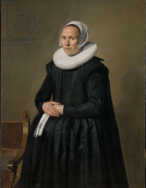 Portrait of Feyntje van Steenkiste, 1635 (oil on canvas)