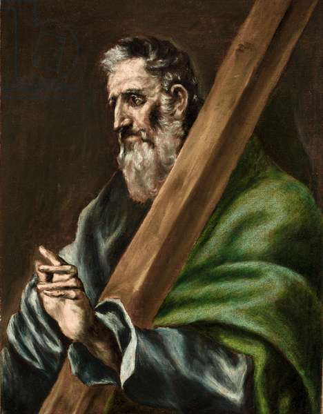 The Apostle St. Andrew, c.1600 (oil on canvas)