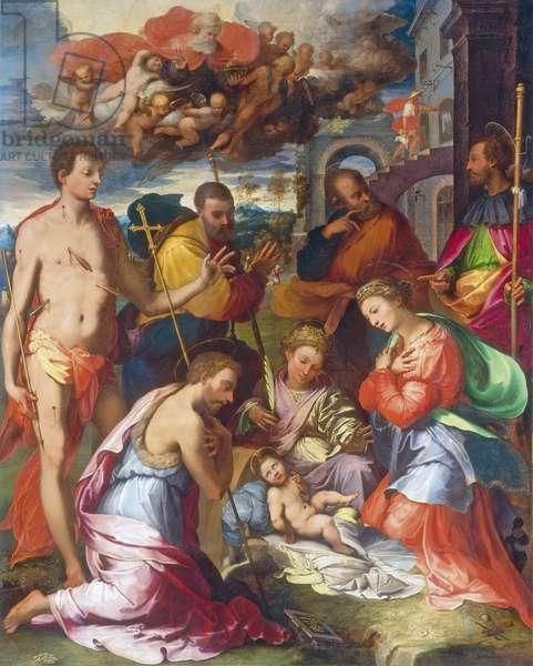 The Nativity, 1534 (oil on panel)