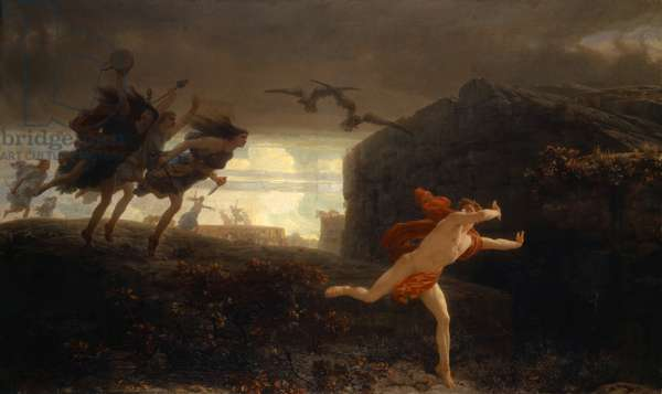 Pentheus Pursued by the Maenads, 1864 (oil on canvas)