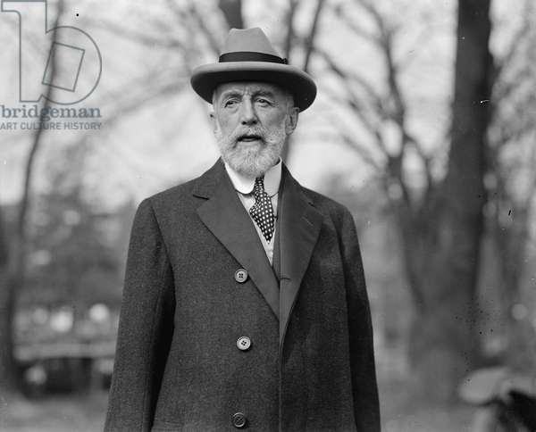 Cyrus H.K. Curtis at the White House, 1924 (b/w photo)