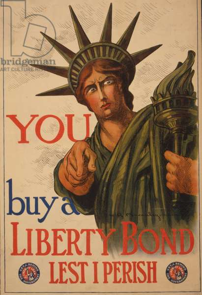 You--Buy a Liberty bond lest I perish, 1917 (colour lithograph)