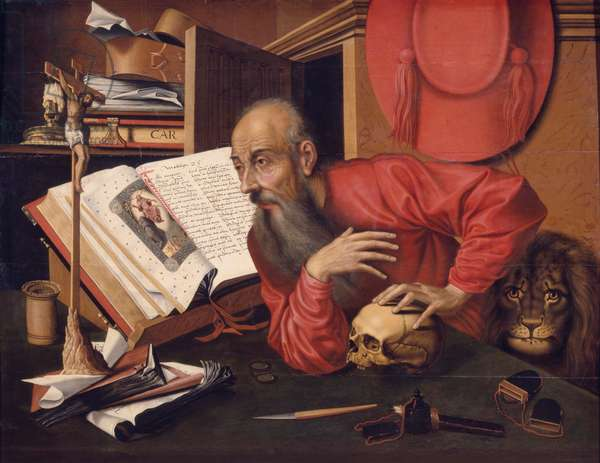 St Jerome, c.1540 (oil on wood)