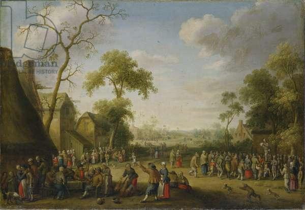 Village Scene, 1637 (oil on canvas)