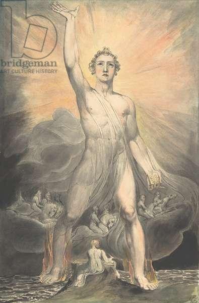 The Angel of Revelation, c.1805 (w/c, pen & ink over graphite)